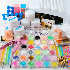 36W UV Lamp Light Cure Dryer Gel Polish Nail Art Tips File Glitter Kit Set UK
