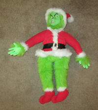 "THE GRINCH PLUSH DOLL TWO FACES Dr. Seuss 2000 Playmate Toys 22"" tall"