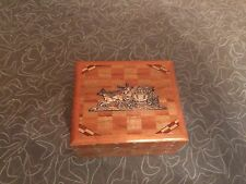 Vintage Art Deco Wooden Trinket Box Made in Japan