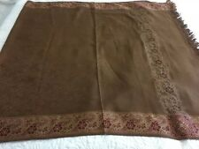 Indian Kashmir - Wool Handmade Shawl/Stole With Thread Embriodery 100% Wool