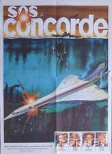 CONCORDE AFFAIR - AIR PLANE / SCUBA DIVER / FLIGHT- ORIGINAL FRENCH MOVIE POSTER