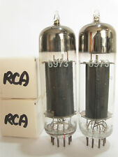 Pair RCA 'Tall Glass' 6CZ5 power amp tubes (fake 6973) - New Old Stock / New