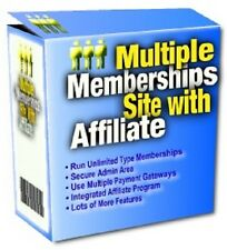 Multiple Membership Site With Affiliate + Bonus Package To Use For Content