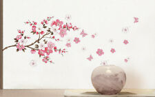 Plum Blossom Flowers Butterfly Vinyl Wall Sticker Art Mural Decal Home Decor New