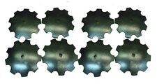 """8 - 18"""" Notched Disc 1"""" or 1 1/8"""" Square Shaft Harrow Bearing Cutting Blade"""