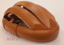 Helmet Vintage Cycling Light Brown Smooth Leather Classic Bicycle Handmade Spin