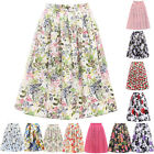 Party 40s 50s 60s Circle Skirt VINTAGE Style Pinup Swing Skirts Dress