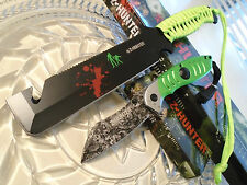 Z-Hunter Zombie Survival Bowie & Assisted Open Pocket Knife Set Full Tang New