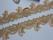 """2.75""""*1Y Diy Craft Dusty Gold -Yellow Venise Lace Trim ,Vintage Venice Trim Lace"""