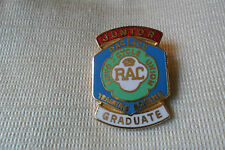 RAC JUNIOR AUTO-CYCLE UNION TRAINING SCHEME GRADUATE pin lapel badge,free u.k.p&
