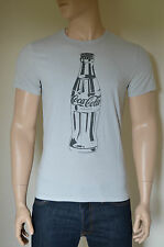 NEW Abercrombie & Fitch Coca-Cola Coke Bottle Vintage Graphic Tee T-Shirt Grey L