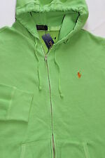 NEW POLO RALPH LAUREN Full Zip Hoodie  sz M, Medium GREEN, ARUBA LIME