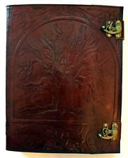 HUGE Tree of Life Leather Bound Book of Shadows, Journal!