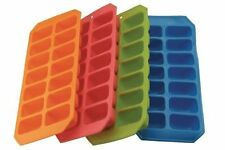 1x Silicone Soft Splash Ice Cube Tray Flexible With Various Colour, By Apollo.