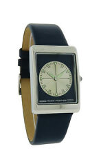 Hush Puppies HP.3016M.2503 Womens Rectangular Analog Navy Blue Silver Tone Watch