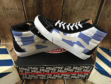 VANS SK8 HI REISSUE CA GLITCH CHECK BLACK BLUE WHITE  MENS SIZE 9 NEW SKATE SHOE