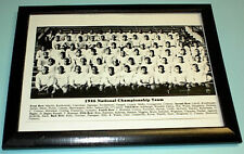 1946 NOTRE DAME NATIONAL CHAMPS TEAM B&W FRAMED PRINT