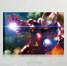 Iron man the avengers QUADRO MODERNO STAMPA TELA ARREDO CASA CARTONI FILM MARVEL
