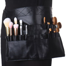 PU Leather Makeup Cosmetic Pouch Case Waist Shoulder Belt Bag For Brush Kit Set