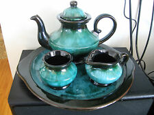Blue Mountain Pottery Tea Service and Tray