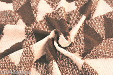 D45 BOILED WOOL&ALPACA HAZEL NUT BROWN&STONE WHITE CHUNKY ABSTRACT JACQUARD KNIT