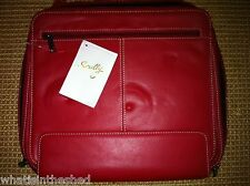 Zippered Leather Document Case Portfolio Briefcase Lap Top by Scully