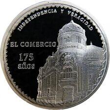"""COMMEMORATIVE COIN SILVER PERU - 175 YEARS OF NEWSPAPER """"EL COMERCIO"""""""