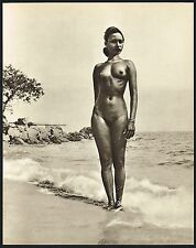 1950s Female Asian Malaysian Malay Nude John Everard Vintage Photo Gravure Print
