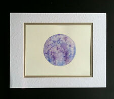 ARTIST SIGNED* ORIGINAL Full MOON WATERCOLOR Urban Art  painted during full moon