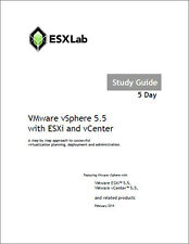 Learn VMware vSphere 5, 5.5 ESXi and vCenter with our Custom Study & Lab Guide