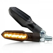 LED-Mini Blinker Slight für Motorrad, schwarz, smoked LED signals/indicators
