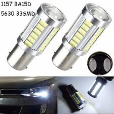 2X 1157 BAY15D S25 CANBUS 33 SMD Brake Reverse LED Bulb 800LM Turn Signal Light