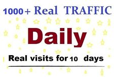 1000 daily views for 10 days google real safe website traffic real people