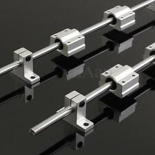 2Pcs 8mm 400mm Linear Rail Shaft Rod Kit + Bearing Block For 3D Printer CNC
