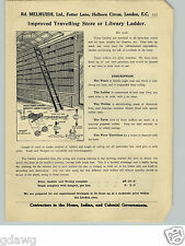 1913 PAPER AD Rolling Ladder Bicycle Store Library Trolley Hobb's Padlock