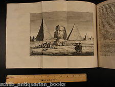 1747 EGYPT Nile Noah's Ark Tower of Babel Pyramids ATLAS Maps Coptic Alphabet