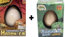 LARGE GROWING PET DINOSAUR & ALLIGATOR EGGS GROW DINO HATCHING EGG