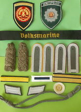Group of East German Army Navy Police badges shoulder boards