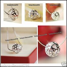 Heart & Full Moon Necklaces Silver Ball Xmas Gifts For Her Mother Daughter Women