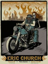 ERIC CHURCH 2014 Pepsi Center - Denver,  Colorado VIP 18x24 Screen Print Poster