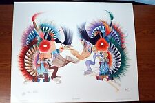 """RANCE HOOD """"Tied for First"""" Hand signed lithograph 1980 xxxx/1500  varies"""