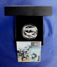 """2010 Alderney Silver Proof £5 Crown coin """"D-Day"""" in Case with COA   (AR1/45)"""