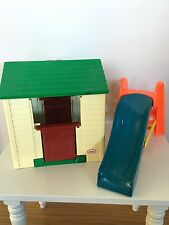 Little Tikes Vintage Dollhouse Doll House Playhouse Club House Cottage & Slide