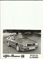 "ALFA ROMEO GTV6  2.5 BY ZENDER  PRESS PHOTO  ""SALES BROCHURE"""