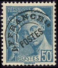 "FRANCE PREOBLITERE TIMBRE STAMP N° 82 "" TYPE MERCURE 50c TURQUOISE "" NEUF (x) TB"