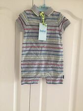 Ted Baker Baby Boys Polo Neck Striped Romper. 3-6 Months. BNWT. Designer