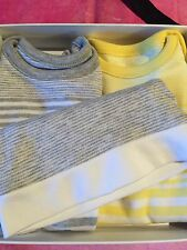 Vince Baby Boy Or Girl Gift Set Nib 6-9 month 3 Pc Set Designer Layette New