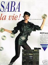 Publicité advertising 1988 Chaine Hi-Fi Laser SABA