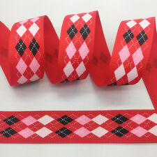 NEW~ 5 Yards 1Inch 25mm Wide Printed Grosgrain Ribbon Hair Bow DIY Sewing #A070