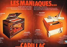 PUBLICITE ADVERTISING 025  1976  CADILLAC  aspirateur éléctroménager ( 2p)